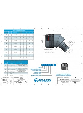 Datasheet 45° Spring Clip Backshell, EMI/RFI Shielded Screened, Spin Coupling